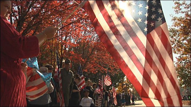 Supporters fill OSU campus for fallen soldier's funeral