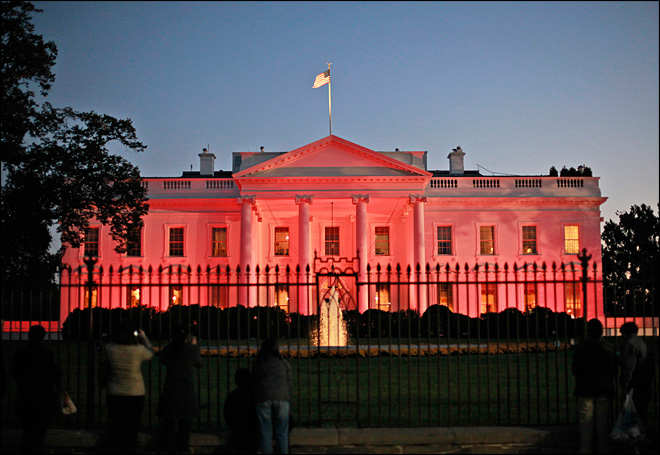 White House goes pink for breast cancer awareness