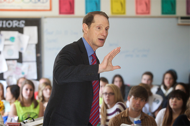 Ron Wyden at Century High School