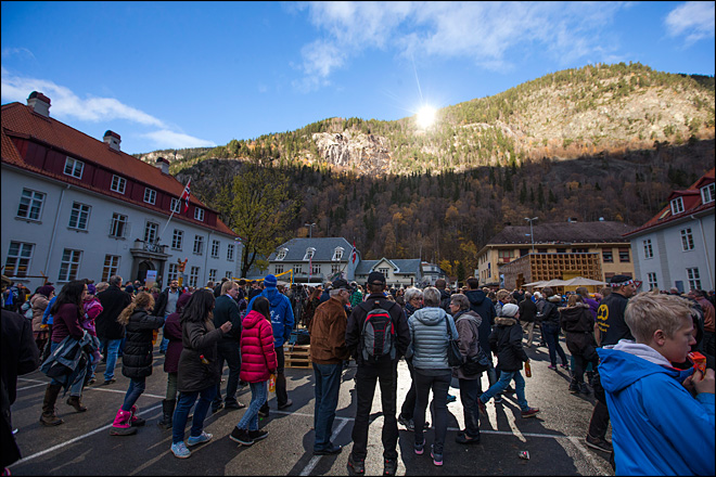 Norway town sees winter sun for first time