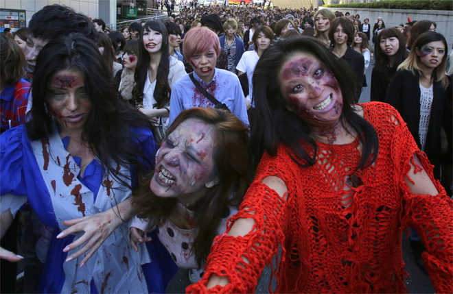 Japan Halloween Zombies