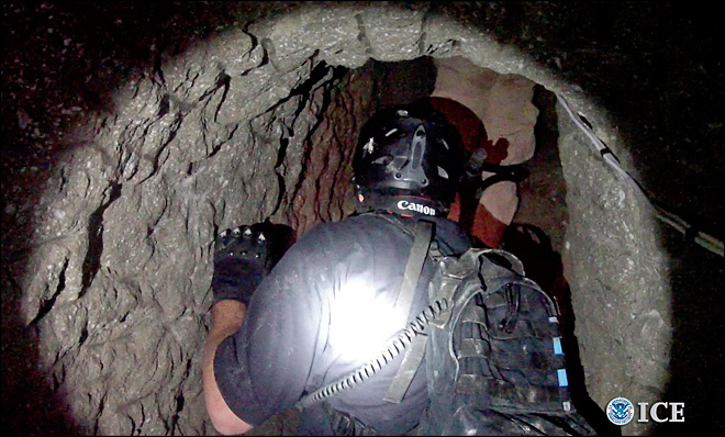 Cross-border drug tunnel was equipped with rail system