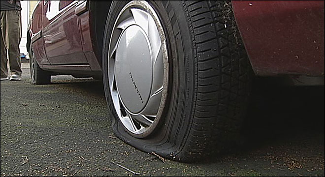 Tires slashed at Eugene apartment complex