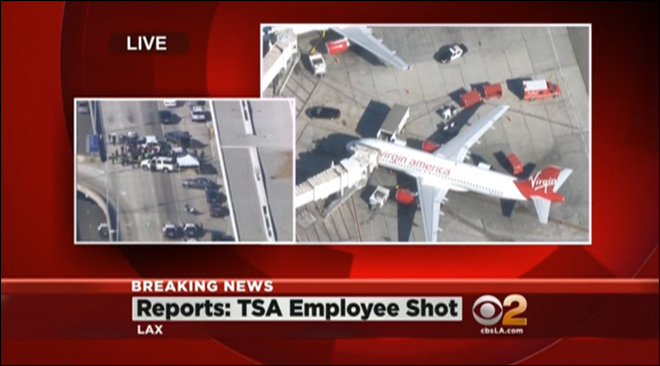 Gunman opens fire at LAX, killing TSA agent, wounding 2 others