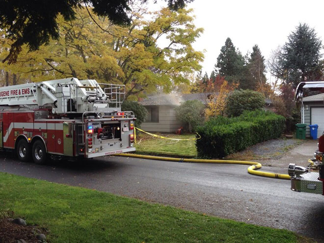 Kitchen fire fills home with smoke