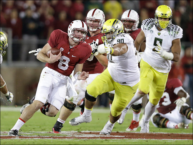 Ducks fall to 6th in BCS standings after loss to Stanford