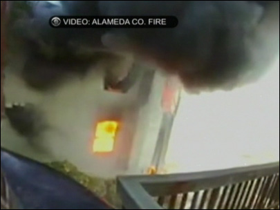 Firefighter's view of battling big home fire in Bay Area