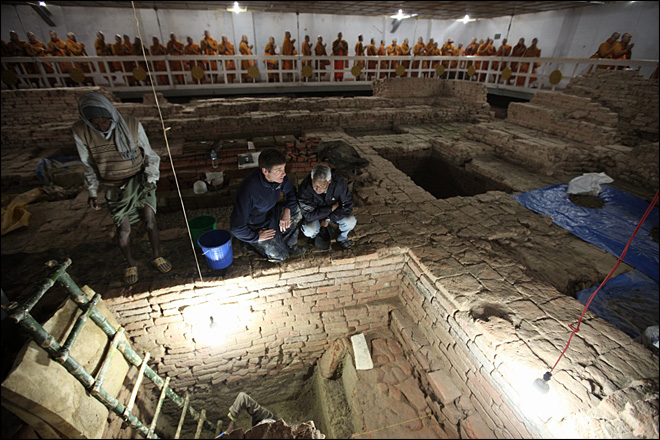 Researchers say they found oldest Buddhist shrine