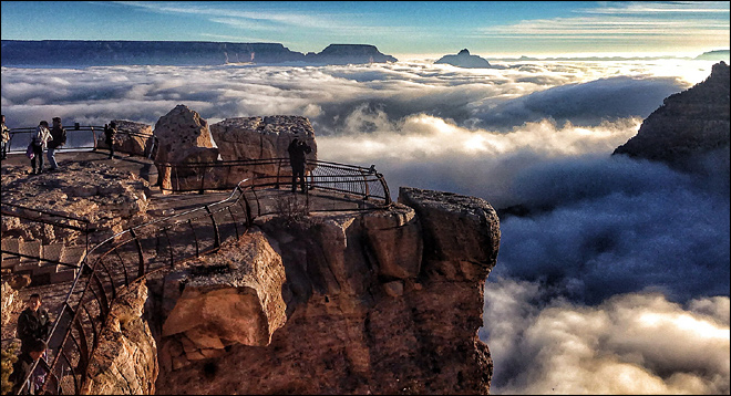 Photos: Rare fog envelops base of Grand Canyon