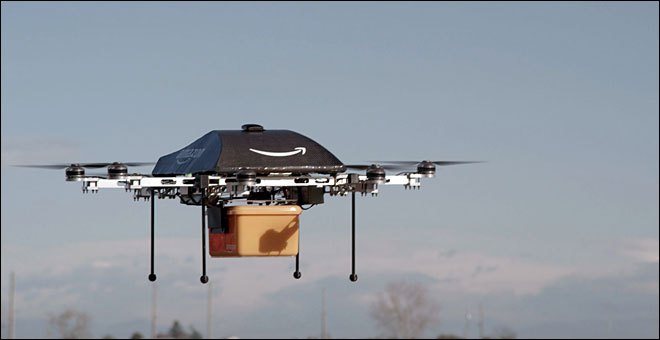 Amazon sees delivery drones as the future