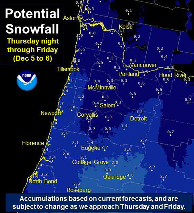 Will it snow? 'Current potential of 1 to 3 inches'