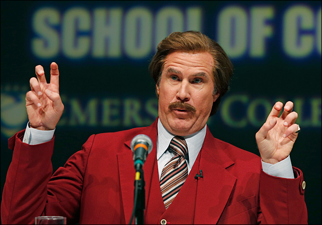 Journalism school renamed for Ron Burgundy for a day