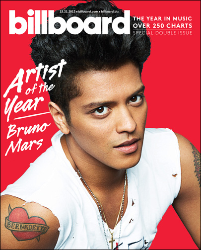 Bruno Mars is Billboard's top artist of 2013
