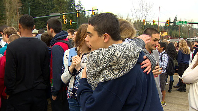 Protest at Eastside Catholic School