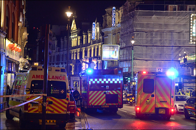 More than 75 injured after London theater roof collapses