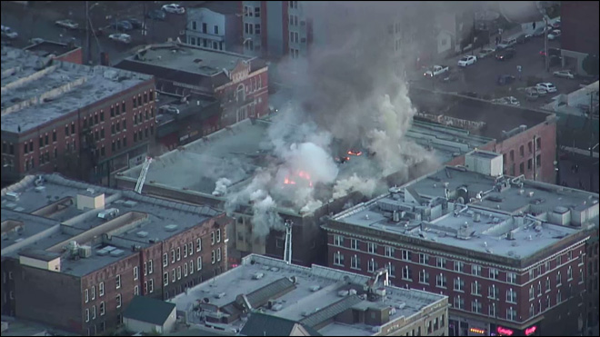 Large fire rips through historic Seattle building