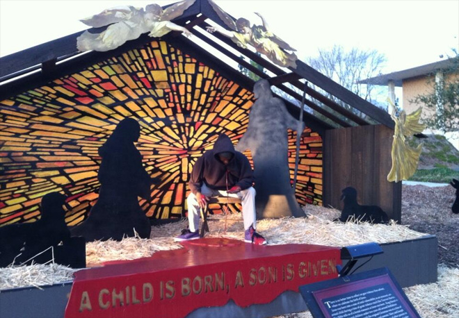 Nativity features Trayvon Martin instead of Jesus