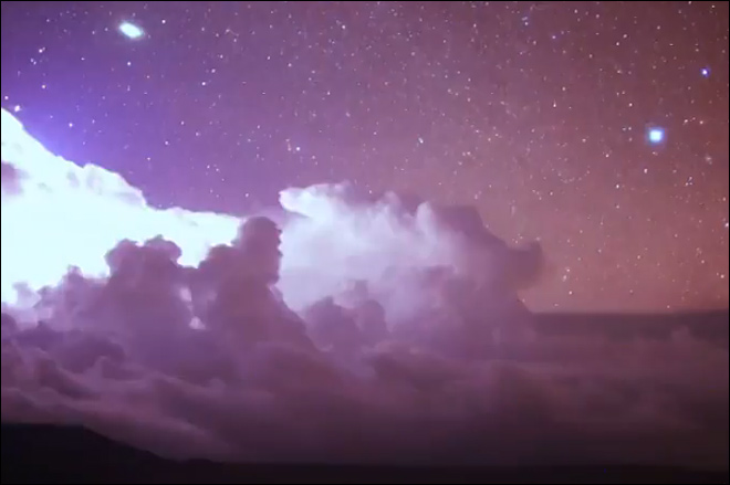 Watch: Thunderstorms light up night skies over Hawaii
