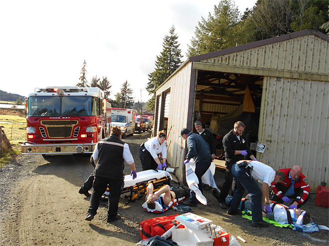 2 hurt in Coos Bay shop explosion