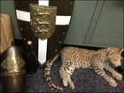 Dead leopard, other swag snagged at mansion party