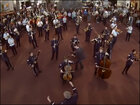 Watch: U.S. Air Force band does flash mob at National Air and Space Museum