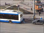 Driver tries to get free tow off city bus...and fails miserably