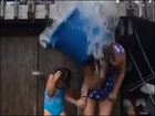 Ouch! Not all ice bucket challenges go to plan