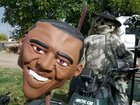 Halloween + Politics + Idaho = 'Obama's head is on the spear'