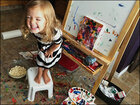 4-year-old artist raises thousands for charity