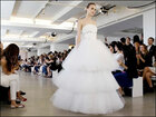 Photos: Modern bridal gowns grace New York runway