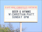 Oklahoma church offering beer and hymns