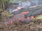Lava inches closer to homes