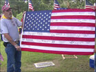 Fallen Marine's flag returned after nine years