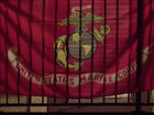 Student flying dad's Marine flag faces eviction