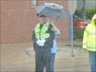 Officer meets woman who shared umbrella