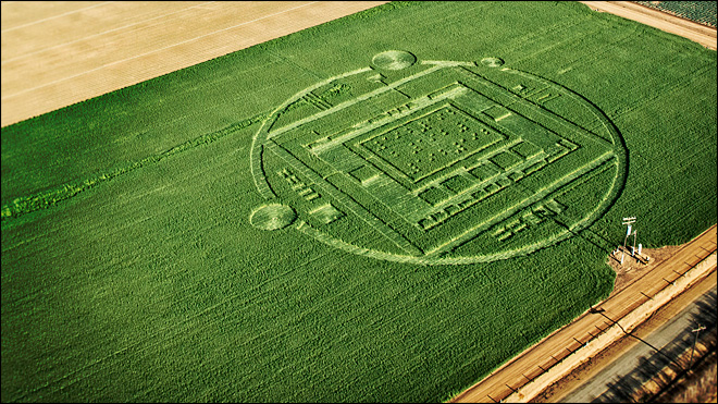 Nvidia promotes new chip with crop circle