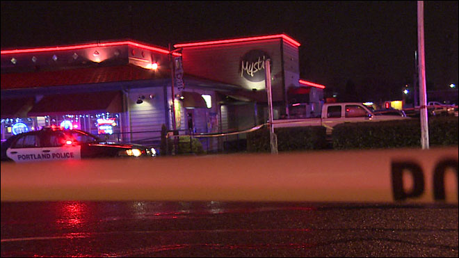 One man critical, three more hurt in Portland strip club shootout
