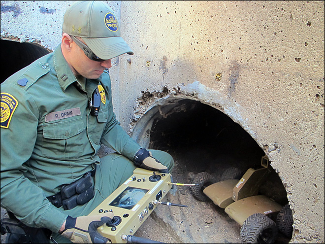 Border Patrol unveils drug-tunnel robots