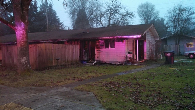 2 taken to hospital after house fire