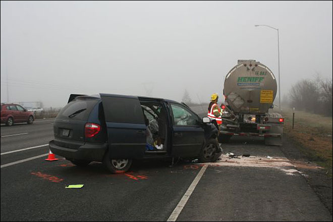 Six injured in crash on I-5, state champ boxer in critical condition