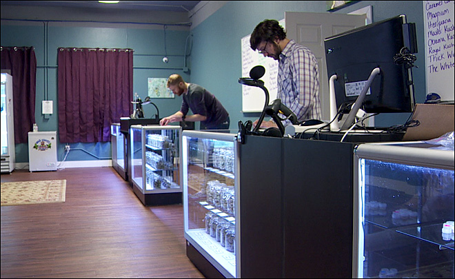 Marijuana dispensary opens in former liquor store