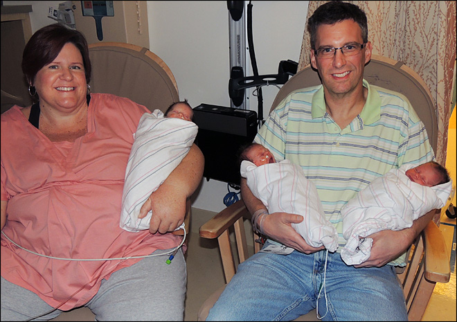 California couple welcomes rare identical triplets