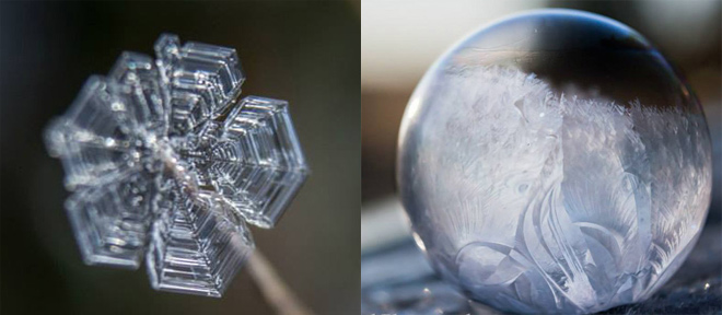 Photos: Dazzling frozen bubbles and ice crystals