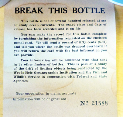 Bottle released by scientist in 1956 found on remote beach