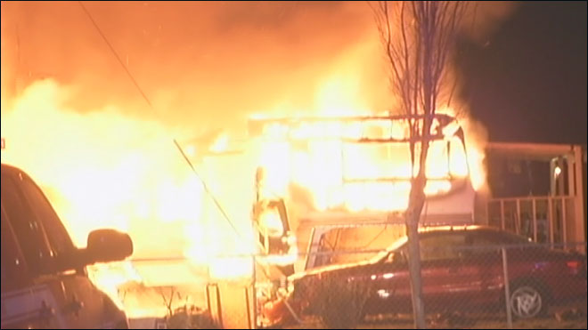 Fire breaks out at mobile-home park in Salem