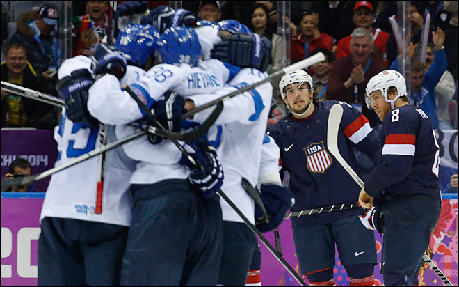 US comes away empty handed in men's hockey after 5-0 loss to Finland