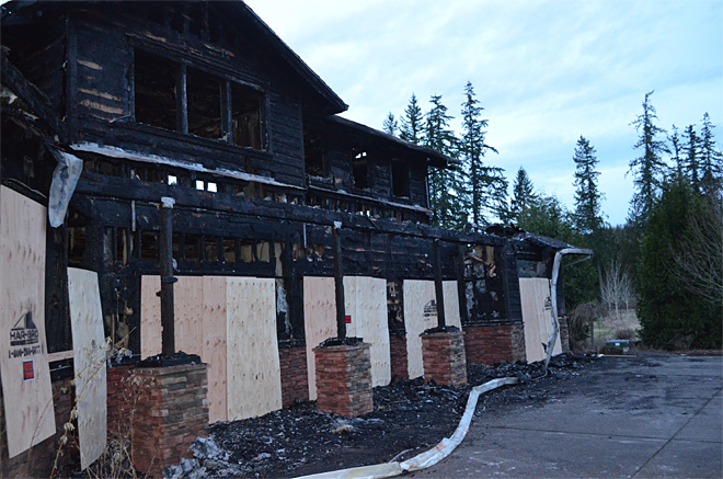Burned Estacada house