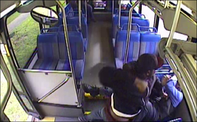 Brutal Olympia bus attack caught on camera