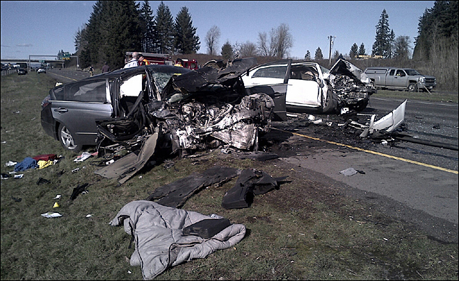 Wrong-way crash kills child, injures 3 on I-5 NB north of Vancouver
