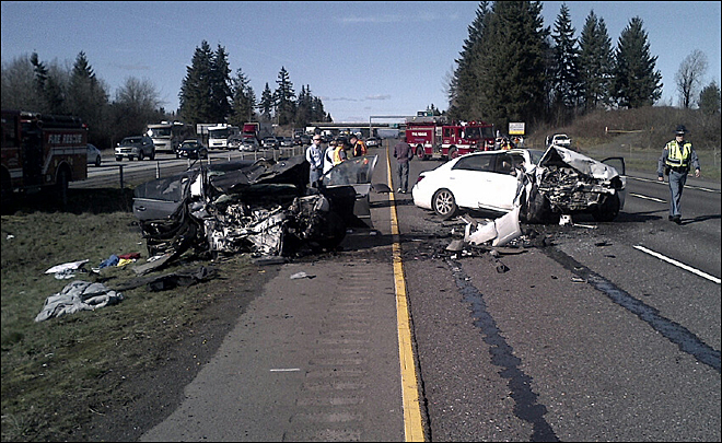 I-5 Crash North of Battle Ground
